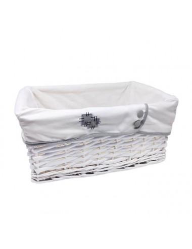 Contenedor rectangular pequeño blanco con forro