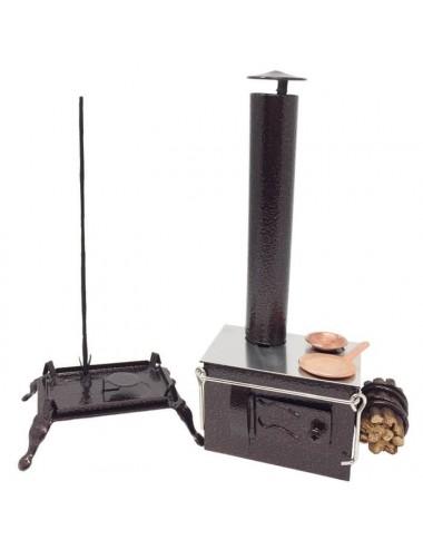 Quemador artesanal cocina para sticks y conos
