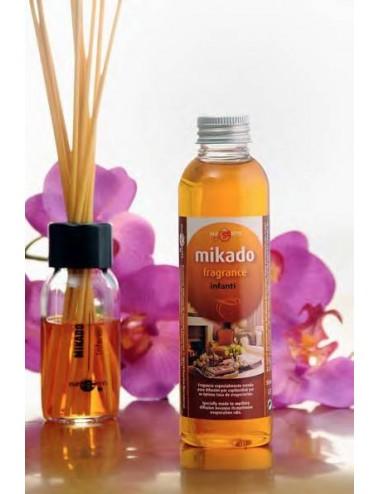 Recambio fragancia Mikado, frasco 150 ml.+12 cañas