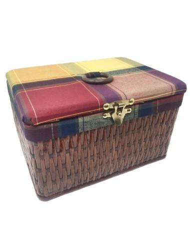 Costurero rectangular nogal tapizado mod. 2