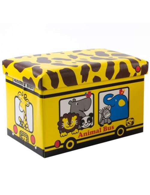 """Caja PVC/Polipiel almacenaje autobús """"Jirafa"""""""