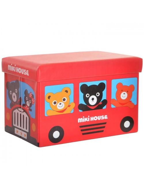 "Caja PVC/Polipiel almacenaje autobús ""Miki house"""