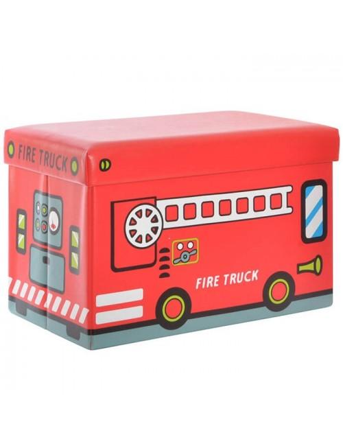 "Caja PVC/Polipiel almacenaje ""Fire truck"""