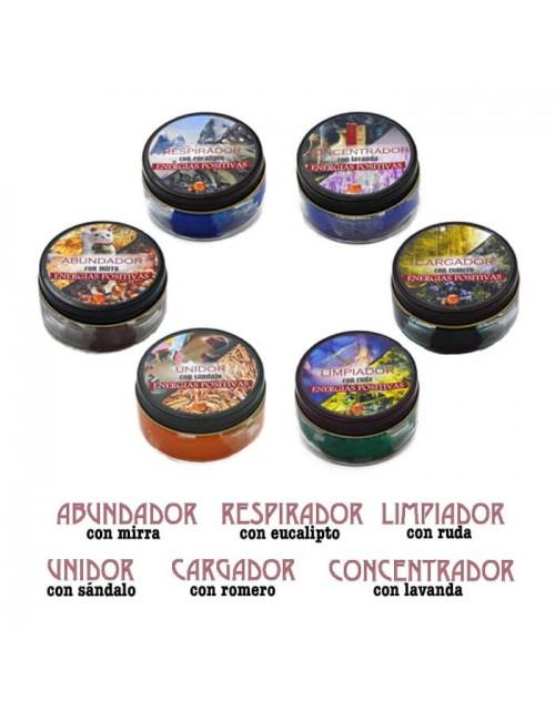 Pack ahorro tarros aromatizadores de espuma serie Energias Positivas