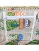 Capazo de la compra estampado tela cactus