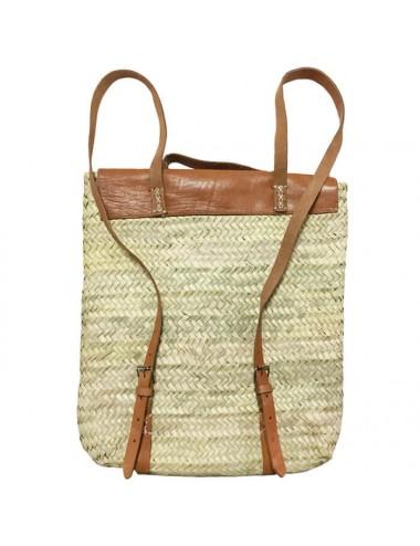 Bolso mochila grande con bolsillo y solapa