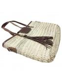 Bolso rectangular mediano con solapa, 2 asas y bolsillo