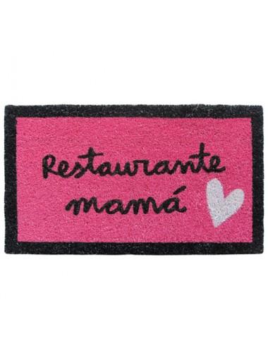 """Felpudo rosa """"Restaurante mamá"""""""