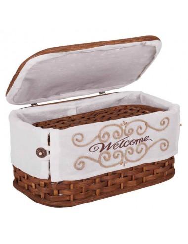 Caja/costurero yute nogal - Varios tamaños