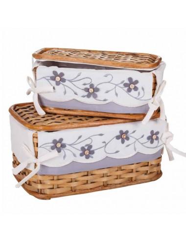 Caja/costurero yute miel - Varios tamaños