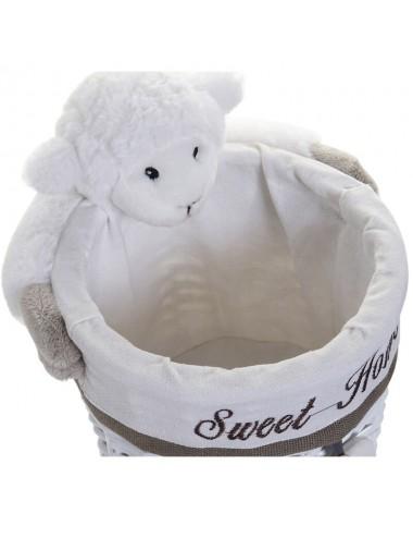 Contenedor pequeño redondo peluche oveja