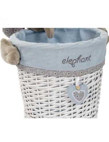 Contenedor pequeño redondo peluche elefante