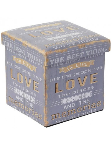 "Caja puff plegable asiento acolchado ""The best thing..."""
