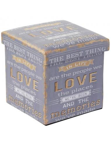 "Caja puff plegable asiento acolchado ""The best thing..."""