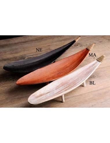 Portasticks hoja de coco con patas, 40 cm