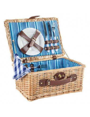 Cesta picnic rectangular mimbre buff 2 servicios completos