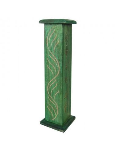 Porta incienso vertical en verde