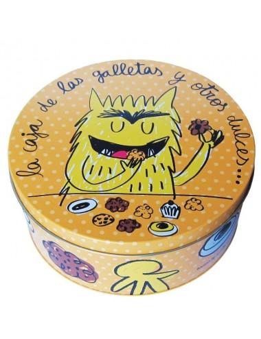 """Caja metálica original diseño Anna Llenas """"la caja de las galletas y...."""""""