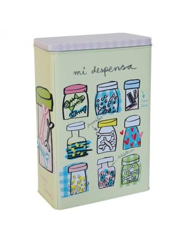 """Caja metálica original diseño Anna Llenas """"mi comida"""" (perros)"""