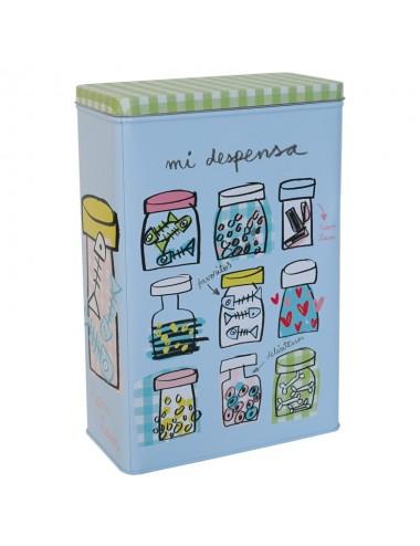 """Caja metálica original diseño Anna Llenas """"mi comida"""" (gatos)"""