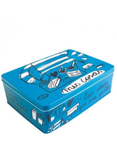 """Caja metálica original diseño Anna Llenas """"mis cosas"""""""