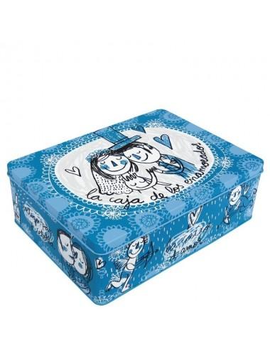 """Caja metálica original diseño Anna Llenas """"la caja de los enamorados"""""""