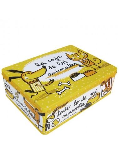 """Caja metálica original diseño Anna Llenas """"la caja de los animales"""""""