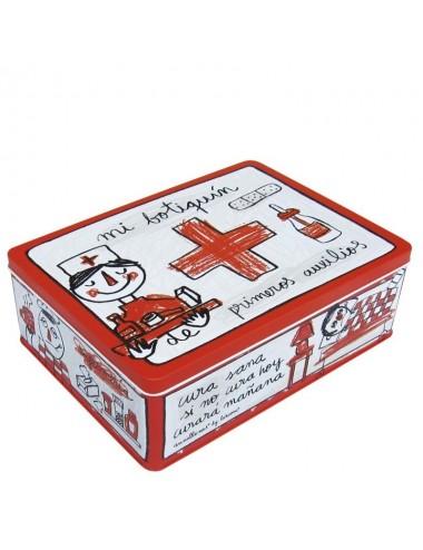 "Caja metálica original diseño Anna Llenas ""mi botiquín"""
