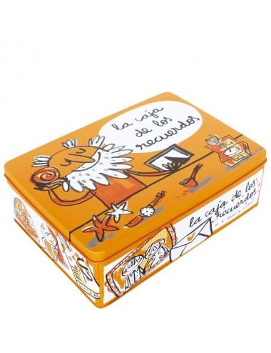 """Caja metálica original diseño Anna Llenas """"la caja de los recuerdos"""""""