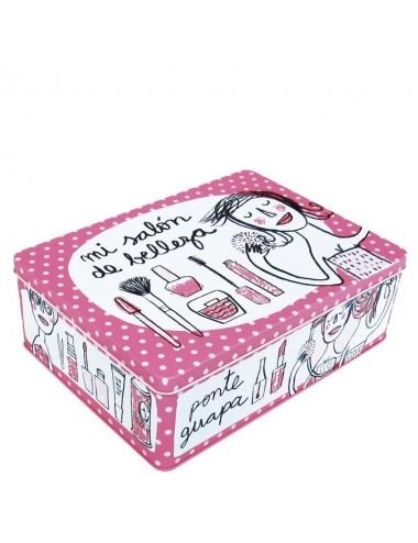 """Caja metálica original diseño Anna Llenas """"mi salón de belleza"""""""