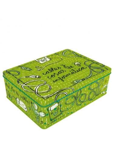 """Caja metálica original diseño Anna Llenas """"cables y cosas de informática"""""""
