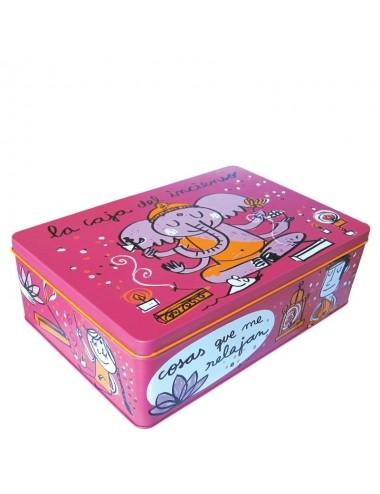 "Caja metálica original diseño Anna Llenas ""la caja del incienso"""