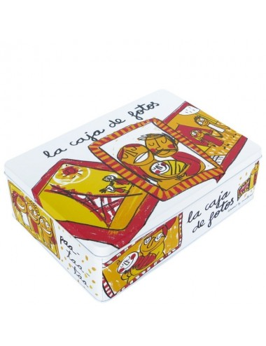 "Caja metálica original diseño Anna Llenas ""la caja de fotos"""