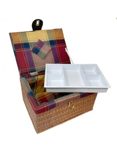 Costurero rectangular tapizado mod. 3