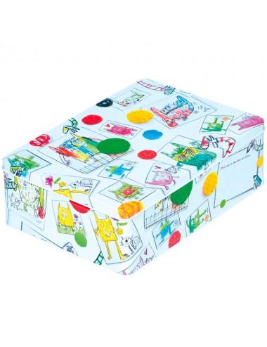 """Caja metálica original diseño Anna Llenas """"el monstruo de los colores"""""""