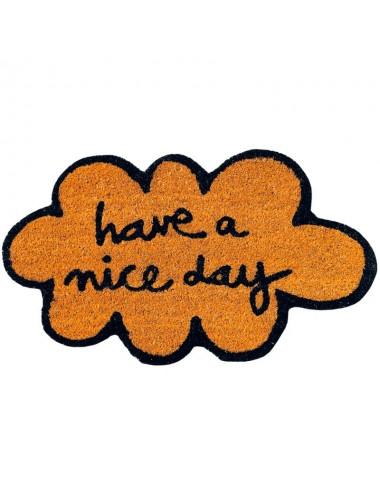 """Felpudo marrón nube """"Have a nice day"""""""