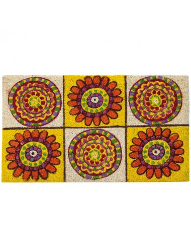 Felpudo multicolor mandala