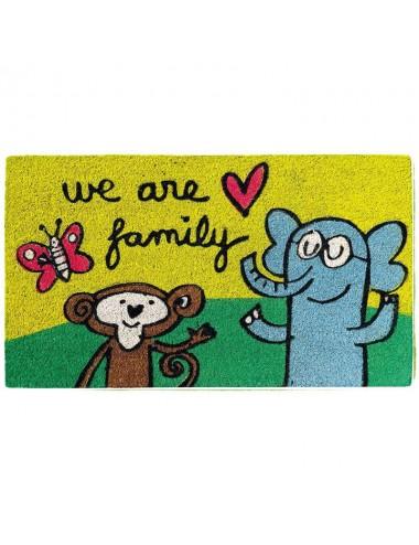"""Felpudo multicolor """"We are family"""""""