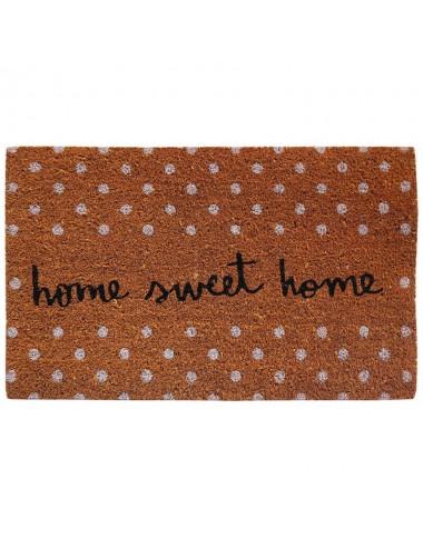 "Felpudo marrón ""Home Sweet Home"""