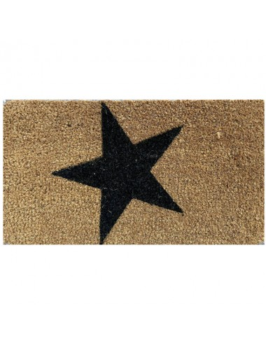 Felpudo pequeño marrón Estrella