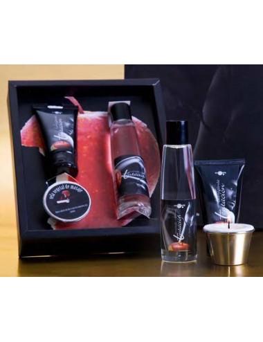 Set erótico regalo: lubricante+masaje+vela
