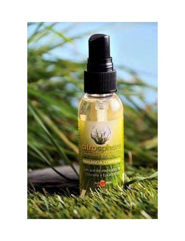 Fragancia corporal Citronella con spray, 40 ml.