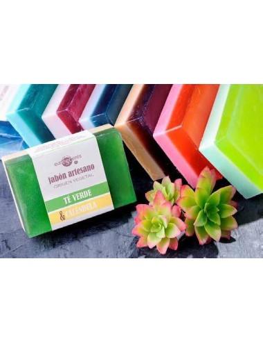 Jabón bicolor glicerina vegetal, 100 gr