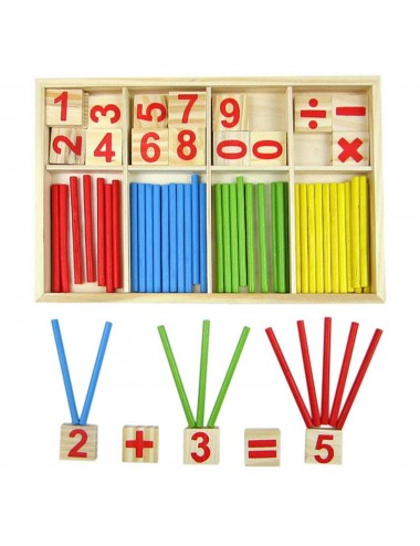 Juego infantil madera matemáticas