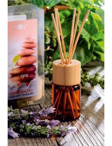 Mikado aromático 20ml.+5 varillas+difusor madera